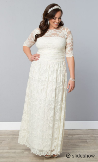 88908f6bf174a Beautiful Plus size Vintage style Ivory wedding dress size 26-28 ...