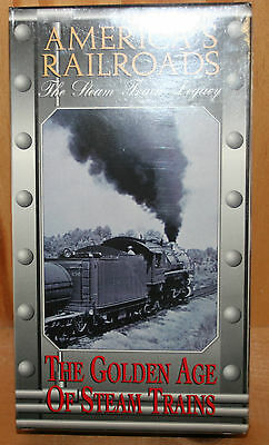 Americas's Railroads The Steam Train Legacy VHS 1995 The Golden Age Of Steam Tra