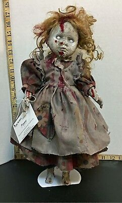 Poppy - creepy porcelain doll, horror zombie art doll, OOAK, Halloween - Creepy Porcelain Dolls
