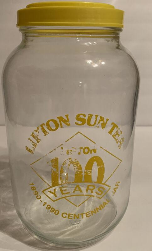 Vintage Lipton Sun Tea 100 Years Centennial Glass Jar