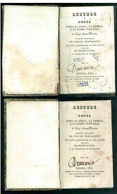 AIME-MARTIN LUIGI LETTERA A SOFIA GHIRINGHELLO 1829 FISICA CHIMICA STORIA NATURA