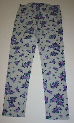 New with out Tags Kirkland Costco Girls Gray Purple Floral Leggings 10 12 year](Costco New Years)