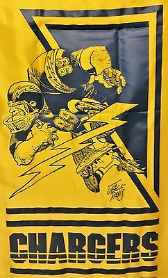 San Diego Chargers Banner (VINTAGE SAN DIEGO CHARGERS NIKRY WALL HANGING BANNER MAN CAVE JACK DAVIS 1988 )