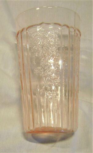 "Mayfair Pink 13.5oz 5.25"" Flat Tumbler from Hocking Glass 1931-1937"