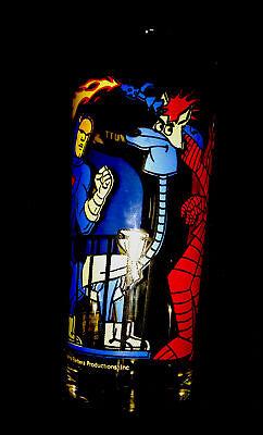 RARE VINTAGE PEPSI COLLECTORS SERIES 1977 DYNOMUTT GLASSWARE - BRIGHT COLORS !