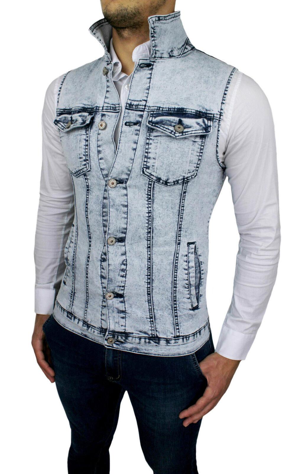 Slim Diamond Smanicato Casual Fit Gilet Giubbotto Uomo Di Jeans qgwxgZ01 f93e007d3cd