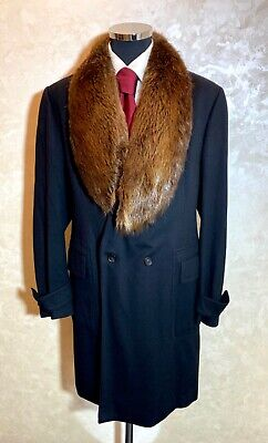 Extremely Expensive Gucci Cashmere, Fur Collar Coat Overcoat Size 54R (44-US)