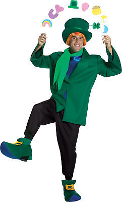 Lucky Charms Leprechaun Adult Classic Costume Jacket Halloween Rasta (Lucky Charms Leprechaun Kostüm)