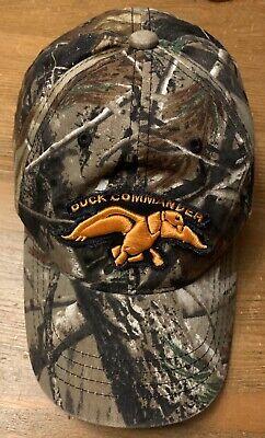 Duck Commander Camouflage Ball Cap Hat Orange Embroidered Adjustable Orange Camouflage Cap