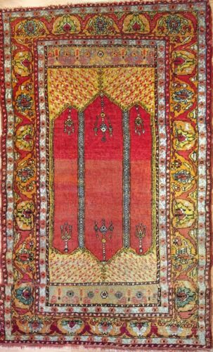 Beautiful Bergama - 1930s Antique Turkish Rug - Tribal Carpet - 3.1 X 6.2 Ft.
