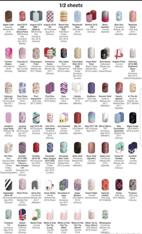 Jamberry+nail+Wraps+Half+1%2F2+Sheet+Exclusive+%2FNo+Longer+Available