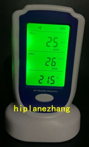 Particle Counter PM2.5 PM10 Air Temperature Humidity Meter 3in1 SoundLight Alarm
