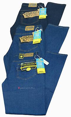 Jeans uomo leggero pantalone cotone denim estivo elasticizzato regular tg 44/64