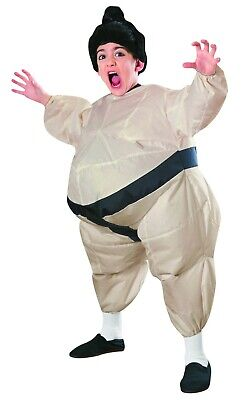 Sumo Wrestlers Costume (Sumo Wrestler Costume CHILD Kids Size Blowup Inflatable Jumpsuit)