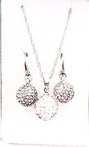 Crystal Earrings and Necklace Sets