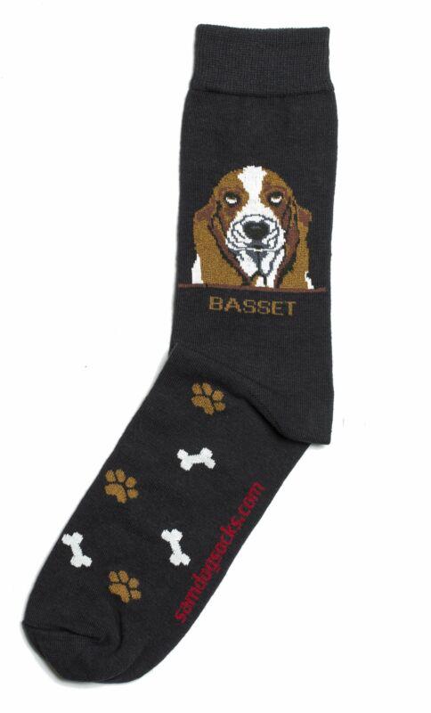 Basset Hound Dog Socks Mens