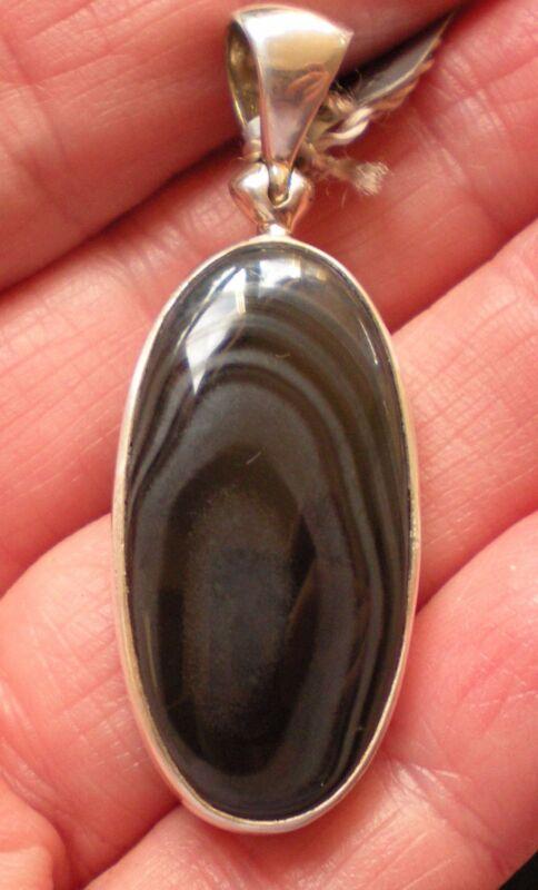 Psilomelane Pendant - Sterling Silver j2615a
