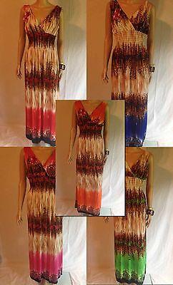 Empire Waist Summer Dresses (Ladies Empire Waist Sleeveless Summer Dress Beach Boho Maxi Sun Dress Women )
