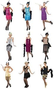 Womens-Fancy-Dress-1920S-Twenties-Flapper-Ladies-Available-In-Various-Colours