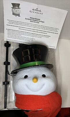 Hallmark 2020 Countdown to Christmas Snowman Tree Topper With Light NIB
