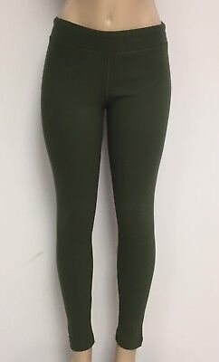 Cotton Spandex Knit Pants - Ladies Cotton Spandex Rib Knit Legging Pant Sizes S-M-L-XL Color Dark Green NWT