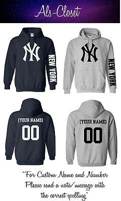 Custom Yankees Shirt (New York Yankees Logo Baseball Pullover Hooded Sweatshirt with Custom)