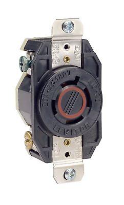 Leviton 2430 20-Amp, 480-Volt- 3PY, Flush Mounting Locking Receptacle-Industrial