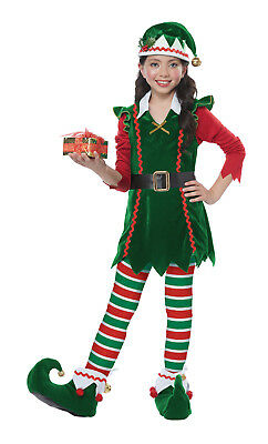 Festive Elf Christmas Santa Holiday Child Costume  - Kids Elf Costumes
