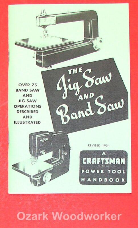 CRAFTSMAN Jig Saw & Band Saw 1954 Handbook Operator