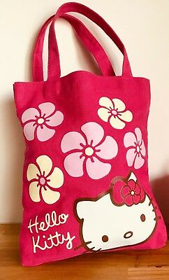 Kitty White Hello Kitty Small Canvas Tote Bag Bright Pink By Sanrio 2012