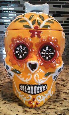Skull Cookie Jar (Blue Sky Clayworks Steampunk Skull Cookie Jar Bright)