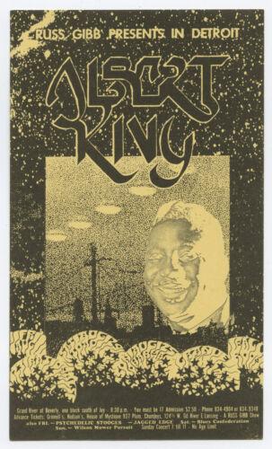 ALBERT KING THE STOOGES Original 1968 Grande Concert Handbill Postcard LUNDGREN