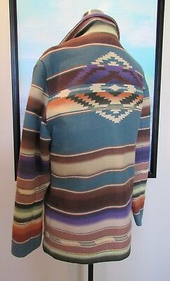 VTG Ralph Lauren Country USA Southwest Indian Blanket Serape Coat Sz S/M/42