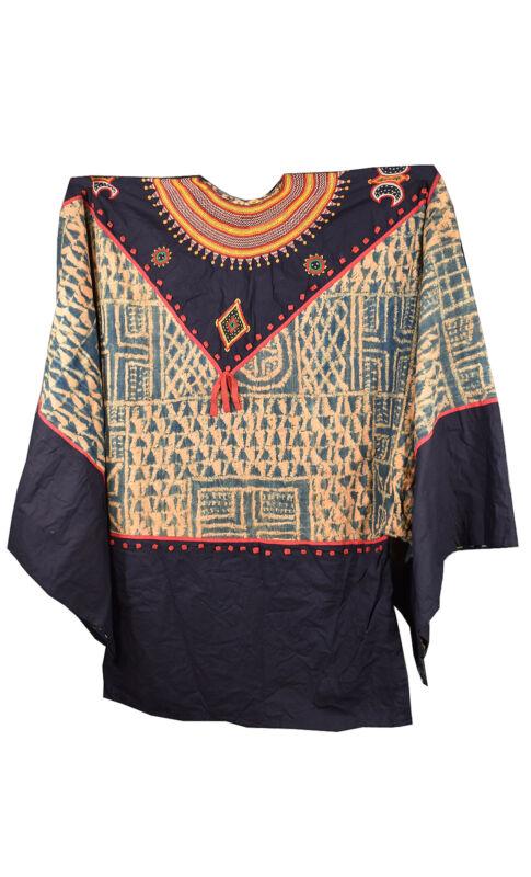 Bamileke Tunic with Ndop Textile Dyed Indigo Cameroon African Art