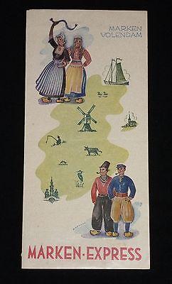 Vintage Marken Express - Marken, Volendam Holland Netherlands Travel Brochure