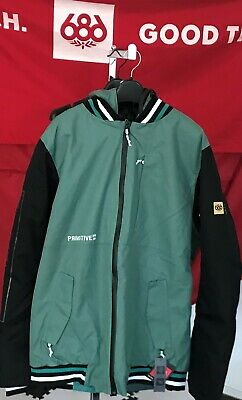 2020 NWT 686 Primitive Tech Bomber Jacket Snowboard Mens L Large 10K Green c46