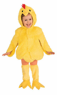 PLUSH CHICKEN HALLOWEEN COSTUME JUMPSUIT & BOOT TOPS UNISEX TODDLER SIZE 2-4