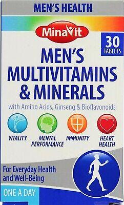 ✅Minavit Men Health Multivitamins & Minerals Ginseng & Bioflavonoids Amino Acids