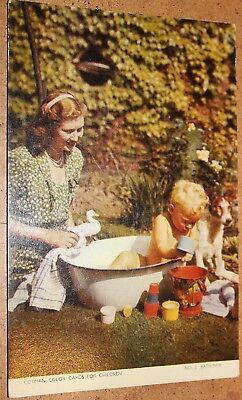 Cotman Color Postcard For Children: No.3 Bath-Time