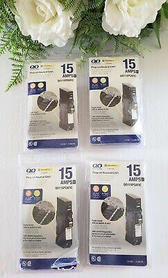 Square D Qo 15 Amp Single-pole Plug-on Neutral Cafi Qo115pcafic 4 Pack Open Box
