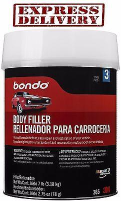 Bondo Auto Body Filler - Auto Body Filler Kit Metal Car Boat Bondo 1 Gallon Cream Hardener Automotive 265