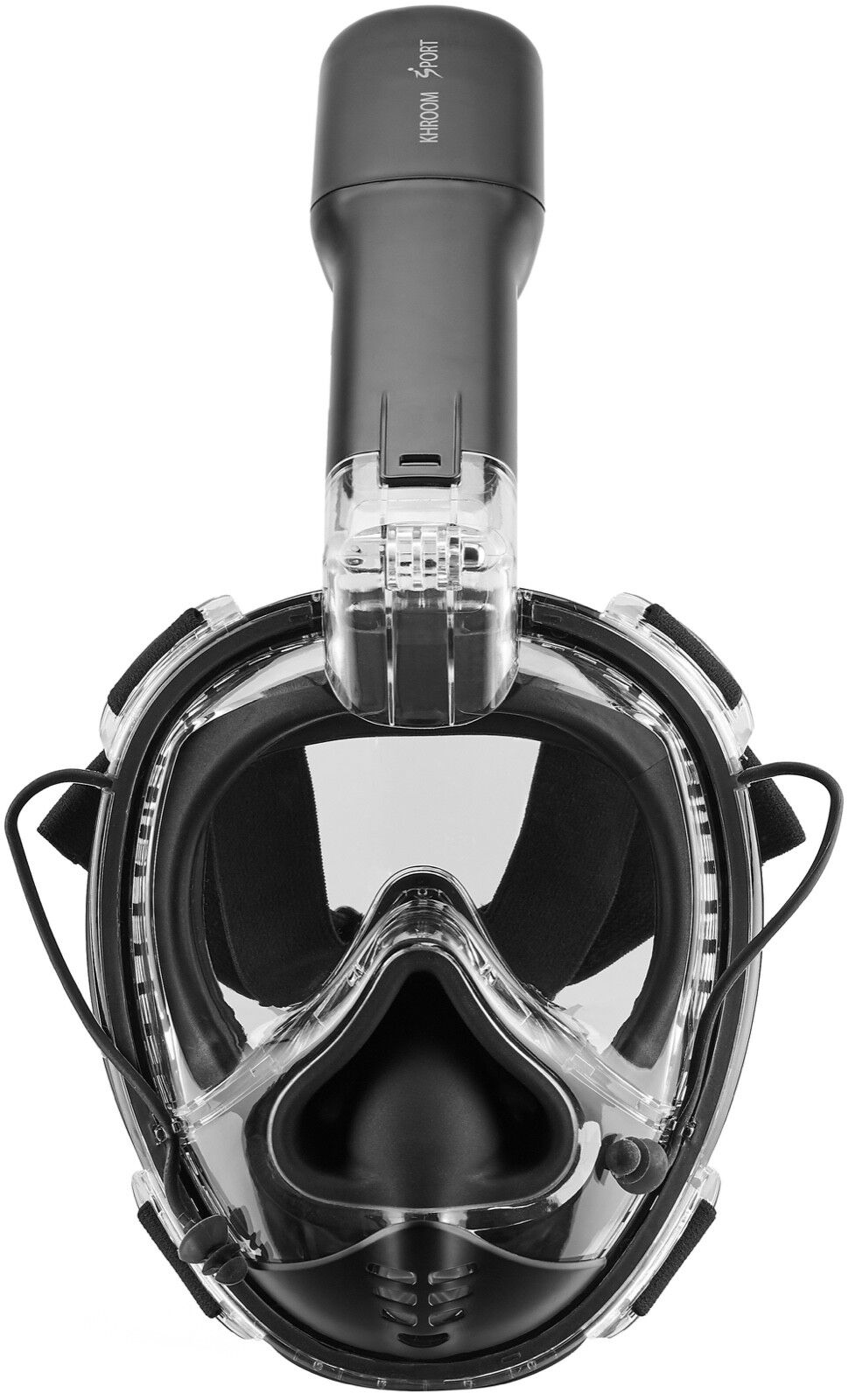 Schnorchelmaske Vollmaske Taucherbrille Tauchmaske Erwachsene Maske Khroom Sport Matt Schwarz