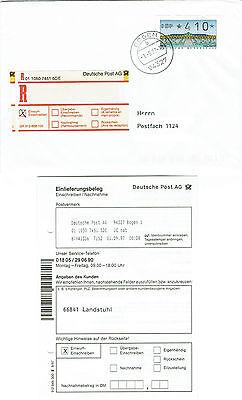 BUND ATM 2.1.2 N101, neues Premiumlabel Typ 3.1. Ersttag 1.9.97 Einwurf-R-Brief