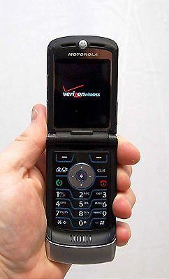 Motorola Razr V3m V3 VERIZON Cell Phone Razor Silver razer flip camera bluetooth - Motorola Bluetooth Razr