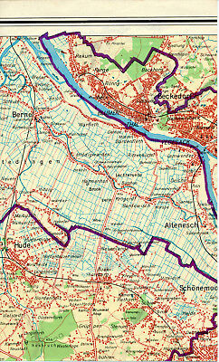 Bremen Blumenthal Vegesack Hude 1962 orig. Teilkarte Berne Lemwerder Delmenhorst