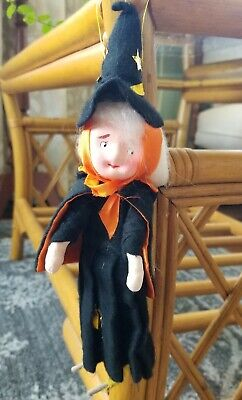 Vintage Halloween Felt Witch Pose Doll 1960s
