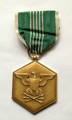 VIETNAM WAR ERA U.S. ARMY MILITARY COMMENDATION MERIT AWARD MEDAL AND RIBBON BAR