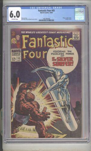 FANTASTIC FOUR #55 - THING vs. SILVER SURFER - MARVEL COMICS/1966 - CGC 6.0