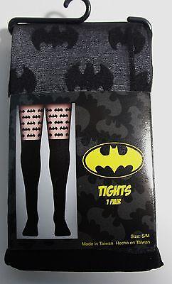 Batman Tights (DC Comics Batman All Over Logo Sheer Tights Size)