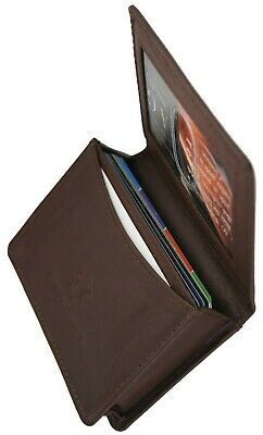 Ag Wallets Business Mens Leather Gusset Pocket Credit Card Holder